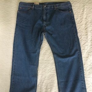LEVI 505 Straight Fit Blue Jeans Mens 42 x 30 NWT